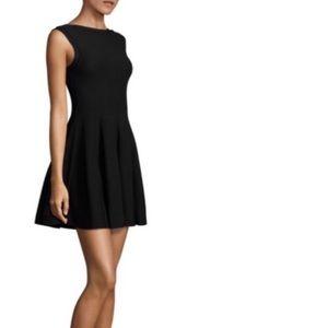 Alice + Olivia Dresses - Alice + Olivia black textured fit and flare dress